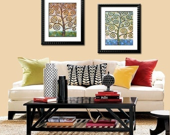 Butterfly Trees -- Set of 2 -- 8 x 10 Glossy Prints