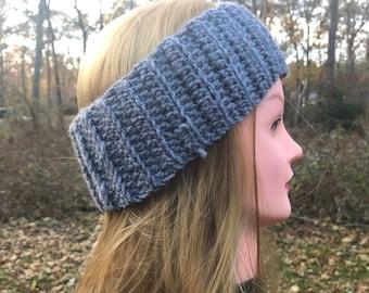 Solid Gray Adult Headband & Ear Warmer