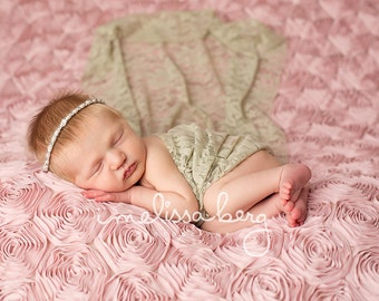 Fern Stretch Lace Wrap Newborn Photography Prop Baby Swaddle