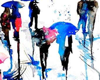 Rainy London Print  -  contemporary modern wall art  for your home wall decor - Rainy London Series by Lana Moes