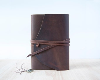Leather journal refillable, Leather Journal Cover, A5 Leather cove, Artists gift