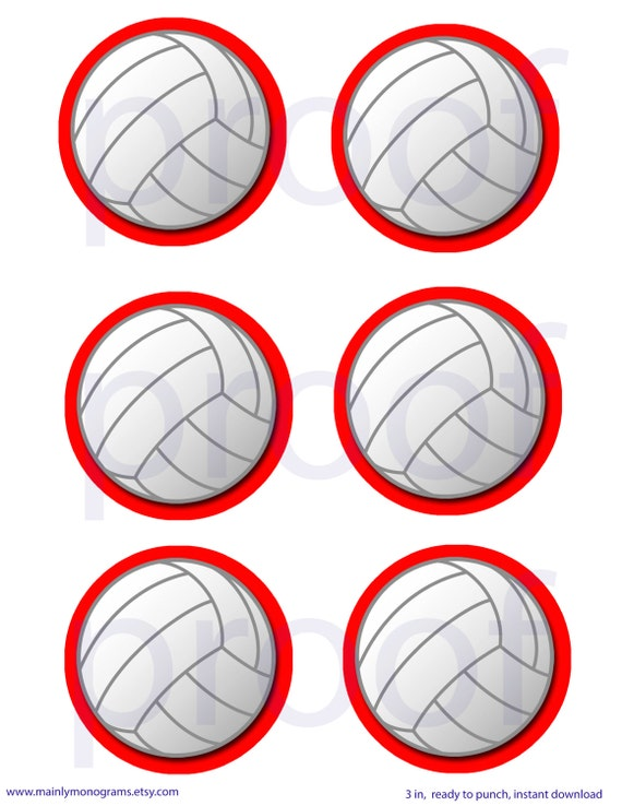 Dynamic image pertaining to printable volleyball