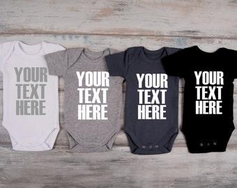 Custom baby clothing etsy baby gift custom one piece baby boy baby girl custom clothing baby outfit negle Choice Image