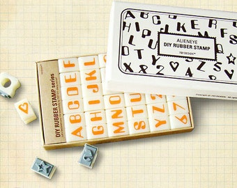 Bold Front Alphabet Rubber Stamps Uppercase letters (36 stamps) HS007