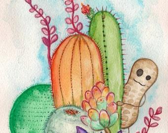 Peaburt and the Cactus-handmade book
