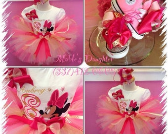 Minnie Mouse Tutu  Set with matching converses