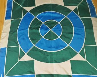 VERA Retro Geometric Vintage Scarf 22 X 22  #144
