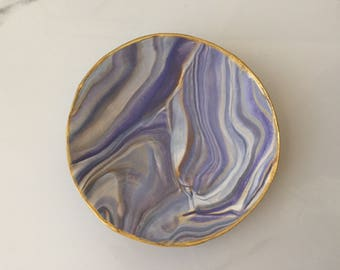Marbled Ring Dish (Purple)