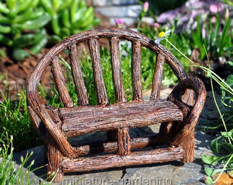 Appalachian Bench for Miniature Garden, Fairy Garden