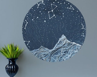 ON SALE Lyra Constellation Wall Decal - Astronomy Art by Elise Mahan