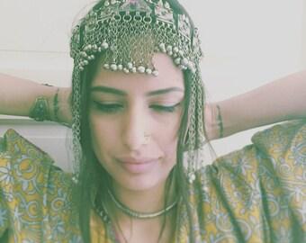 Free shipping - head-jewelry / Boho Chic / Gypsy  / Kuchi / tribal and Gipsy