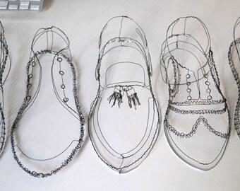 A Wire Shoe sculpture