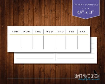 Printable Eternal Planner - Art Deco Daily Planner - Black and Gold - Instant Download