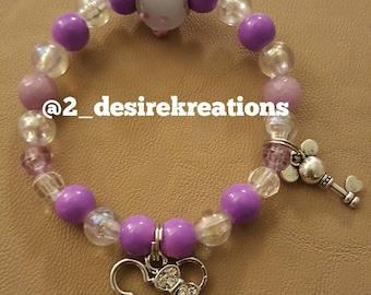 Minnie Mouse kids kreation beaded bracelet