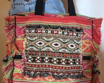 Beautiful bohemian tote bag