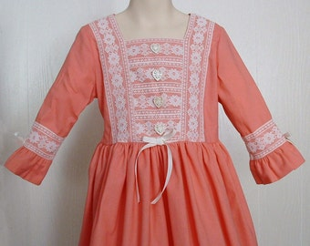Girls Felicity Dress Colonial Dress Historical  Costume Size 7 Ready to Ship