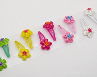 Hair accessories for girls, Snap clips for girls, Girls snap clip, Flower snap clips, Hair clips, Floral hair clip