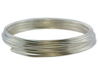 German Made Wire 16ga Round Silver Plated 3 Meter Coil