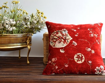 Modern Decorative Floral Pillow Cover - 20x20 Cushion Cover, Throw Pillow, Accent Pillow, Toss Pillow