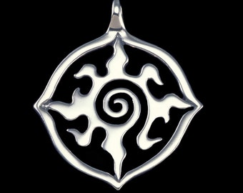 Radiance  Sm., Four Directions, 'Lost Girl' Lauren's Necklace Amulet Original Design