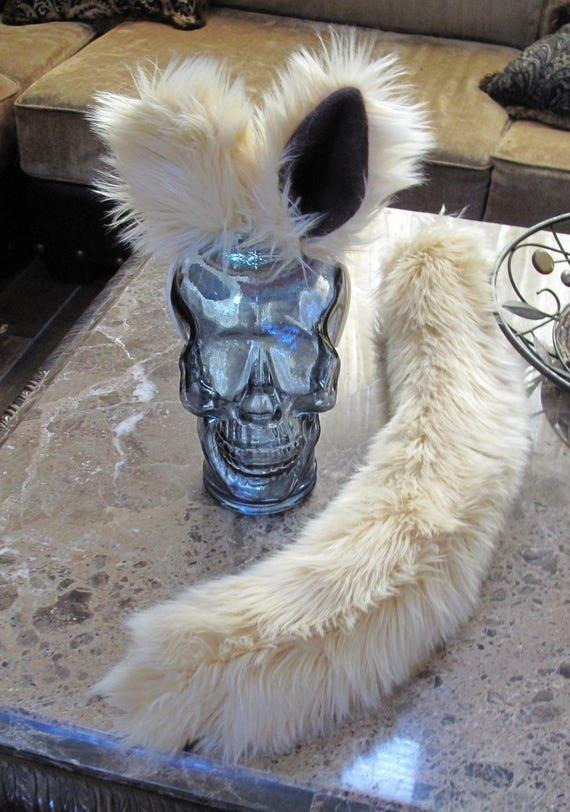 Mog the Dog Spaceballs blonde luxury shag faux fur ears tails & sets