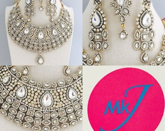 Earring, Necklace and Tikka Set