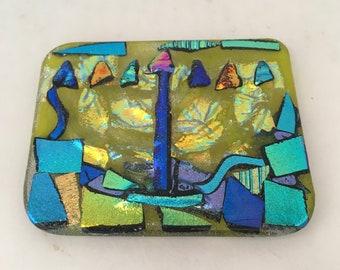 Menorah Glass Plaque/Tile