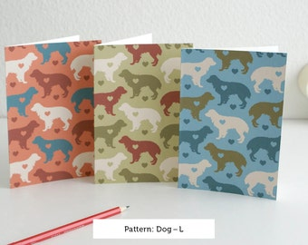 Dog card set by pattern