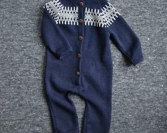 Blue jumpsuit knit baby jumpsuit baby boy overall knit baby suit blue baby alpaca jumpsuit wool knitted suit jumpsuit boy blue baby bodysuit