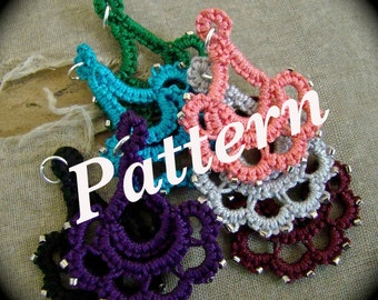 PDF Tatting Pattern - Special Occasion Pendant or Earrings