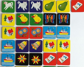 1970's picture card games, Spear's Kiddy snap,memory game.
