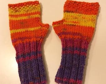 Kids Fingerless Gloves, Fingerless Gloves, Toddler Mittens, Kids Mittens, Colorful, Knit Fingerless gloves, Arm warmers, Winter gloves