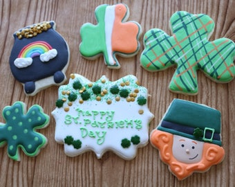 ST. PATRICK'S DAY Kids Irish Holiday Festive Ireland Leprechaun Sugar Cookies