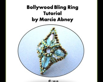 Beadweaving Tutorial - Bollywood Bling Beadwoven Ring
