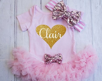 Girls Valentines Day Clothing..My First Valentines Bodysuit...Baby's First Valentines Outfit