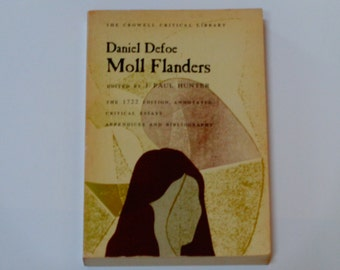 Daniel Defoe - Moll Flanders - The Crowell Critical Library - Literary Criticism - Thomas Crowell Co. 1970 - Vintage Softcover Book