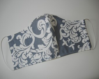 Fabric Surgical Face Mask in Gray Elegance