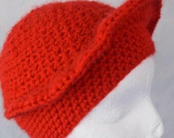 Ladies Designer hat with visor / KU 52-55 cm / Red