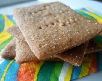Graham Crackers, Handcrafted Graham Crackers,  1 1/2 dozen