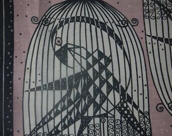Fabric - Maud Fredin Fredholm - Craft - Bird - 60s - Scandinavia - Sweden - Swedish Design