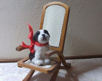 Dollhouse Saint Bernard Puppy Dog, 1/12 scale