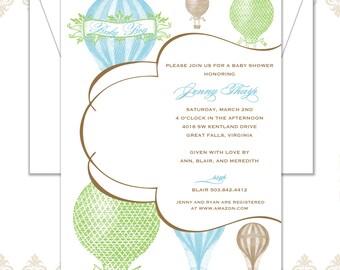 Hot Air Balloon Invitation