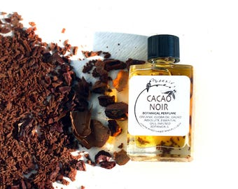 Cacao Noir - Melted Chocolate with Tuberose, Vanilla and Oudh - botanical perfume