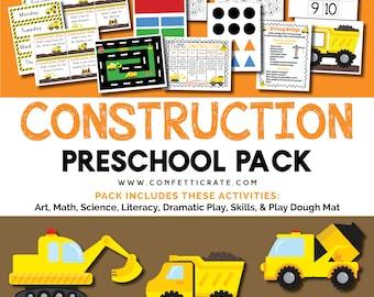 Construction Preschool Activities Printable educational printable homeschool preschool  - instant download