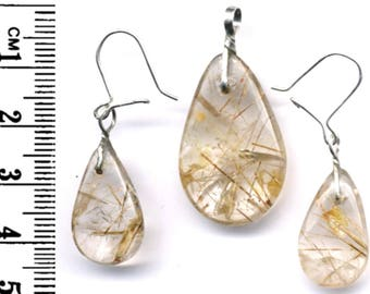 Rutilated Quartz & Sterling silver, Hand crafted in Queensland