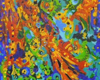"""Modern Abstract Painting-""""Sea of See""""-Hanging Wall Art-Acrylic Canvas Painting"""