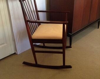 60u0027s Mid Century Modern Rosewood Rocking Chair By Arne Vodder