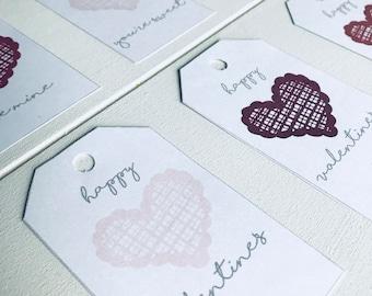 Valentine's Day Gift Tags, Valentine Printable Gift Tags, Printable Gift Tags, Heart Gift Tags, Happy Valentine's Day Gift Tags, Gift Tags