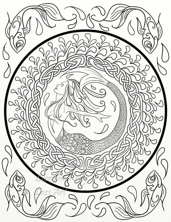 celtic adult coloring pages - photo#10