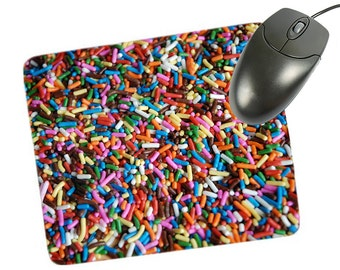 Ice Cream Sprinkles Custom Mouse Pad for Computer Desk, Administrative Professionals Day Gifts, Administrative Assistant Gifts